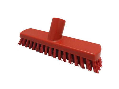 """8.5"""" Small Floor Scrub – Stiff Fill (red)"""
