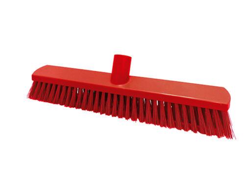 """T15"""" Push Broom – Stiff Fill (red)"""